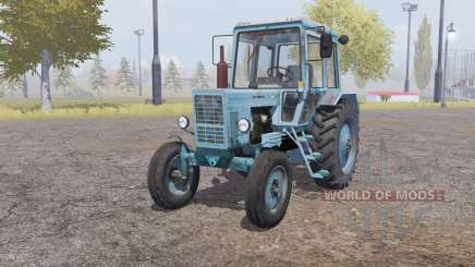 MTZ-80 Belarus 4x4 hellgrau-blau für Farming Simulator 2013