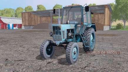 MTZ 80 Bélarus, doux, bleu pour Farming Simulator 2015