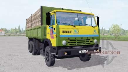 KamAZ 55102 mit einem trailer v1.1 für Farming Simulator 2017