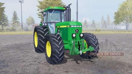 John Deere 4455 twin wheels pour Farming Simulator 2013