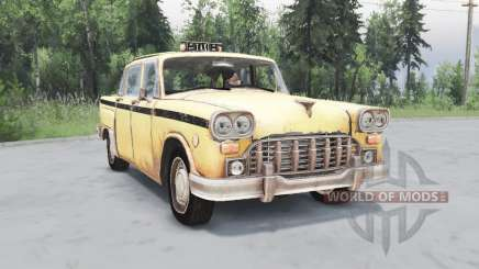 Checker Marathon Taxi (A11) 1970 pour Spin Tires