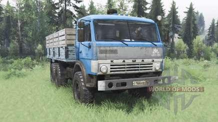 KamAZ 43114 bleu v1.2 pour Spin Tires