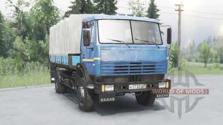 KamAZ 43253 bleu pour Spin Tires
