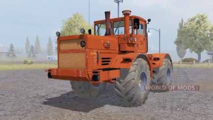 Kirovets K-700a variateur électronique-rouge-orange pour Farming Simulator 2013