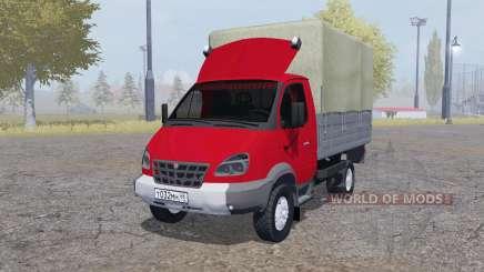 GAZ 3310 Valdai 2004 rot für Farming Simulator 2013