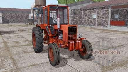 MTZ-80 Belarus ist mäßig rot für Farming Simulator 2017