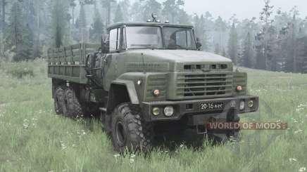 KrAZ 260 sombre-vert-gris pour MudRunner
