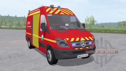 Mercedes-Benz Sprinter 311 CDI Sapeurs-Pompiers für Farming Simulator 2017