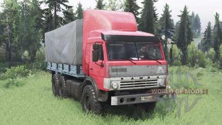 KamAZ 43114 rouge v1.2 pour Spin Tires
