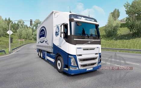 Volvo FH16 750 Globetrotter XL cab 2014 Tandem pour Euro Truck Simulator 2