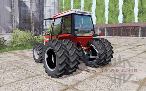 Massey Ferguson 297 Turbo dual rear pour Farming Simulator 2017