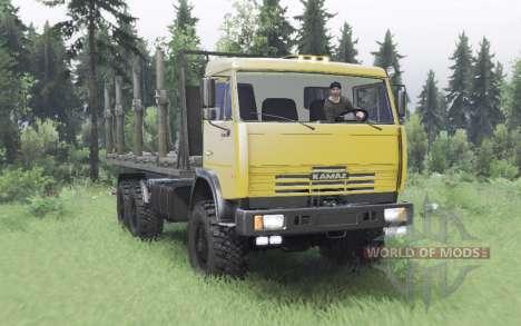 KamAZ 65111 modérément jaune pour Spin Tires