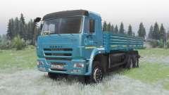 KamAZ 65117 dunkelblau für Spin Tires
