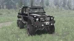 Mercedes-Benz G 63 AMG 6x6 (W463) 2013 black für MudRunner
