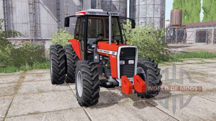 Massey Ferguson 297 Turbo dual rear pour Farming Simulator 2017