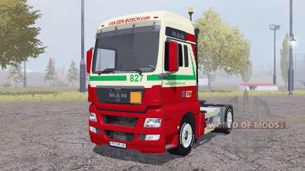 MAN TGX 4x4 Van den Bosch v2.0 pour Farming Simulator 2013