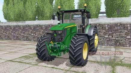 John Deere 6230R dynamic exhaust für Farming Simulator 2017
