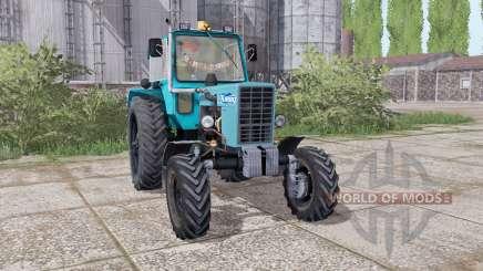 MTZ 82 Biélorussie tracteur à roues jumelées à l'arrière pour Farming Simulator 2017