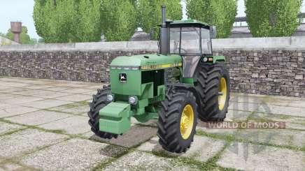 John Deere 4650 1988 twin wheels pour Farming Simulator 2017