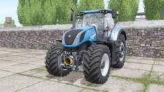 New Holland T7.290 Heavy Duty bright blue für Farming Simulator 2017