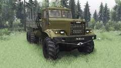 KrAZ 255B olive v1.1 für Spin Tires