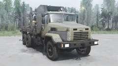 KrAZ 6322 dark-grise-jaune pour MudRunner