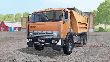 KamAZ 55111 modérément-orange pour Farming Simulator 2015