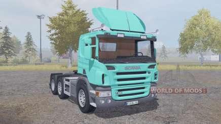 Scania P420 bright turquoise v2.2 für Farming Simulator 2013