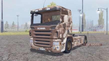 Scania R420 desert camo für Farming Simulator 2013