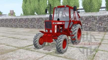 MTZ 82 Biélorussie rouge foncé pour Farming Simulator 2017