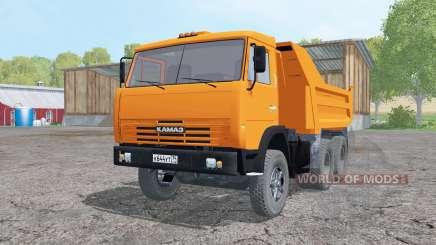 KamAZ 55111 2002 orange vif pour Farming Simulator 2015