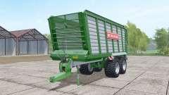 Bergmann HTW 40 dark lime green pour Farming Simulator 2017