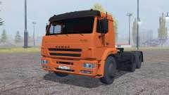 KamAZ 6460 mit Anhänger-SZAP 9327 für Farming Simulator 2013