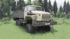 Ural 4320-1912-40 Grau-gelb v1.2 für Spin Tires