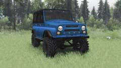 UAZ 469 blue v1.1 für Spin Tires