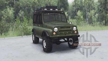 UAZ 469 khaki v1.1 für Spin Tires