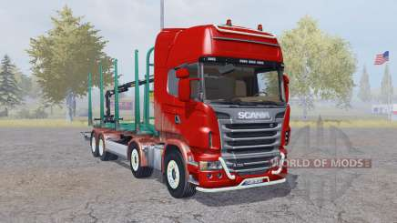 Scania R730 V8 Topline 8x8 Timber Truck pour Farming Simulator 2013