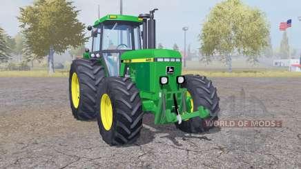 John Deere 4455 double wheels pour Farming Simulator 2013