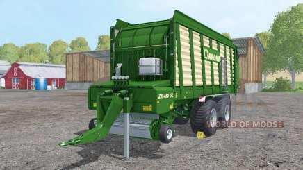 Krone ZX 450 GL doubled collecting speed für Farming Simulator 2015