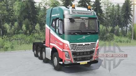 Volvo FH16 750 8x4 tractor Globetrotter cab für Spin Tires