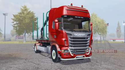 Scania R730 V8 Topline 4x4 Timber Truck pour Farming Simulator 2013