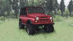 UAZ 469 red v1.2 für Spin Tires