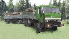 KamAZ 5350 vert pour Spin Tires