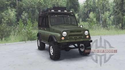 UAZ 469 khaki v1.2 für Spin Tires