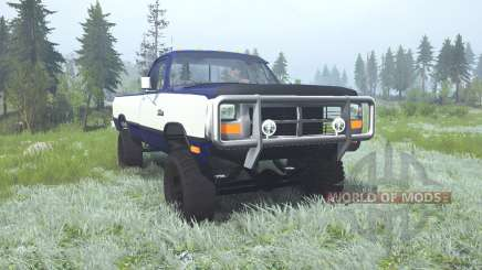 Dodge Power Ram Regular Cab (W250) 1990 lifted pour MudRunner