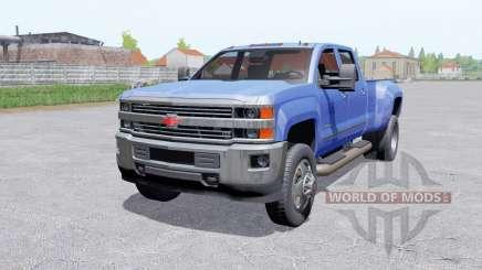 Chevrolet Silverado 3500 HD Crew Caɓ für Farming Simulator 2017