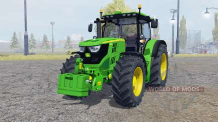 John Deere 6150R with weight pour Farming Simulator 2013