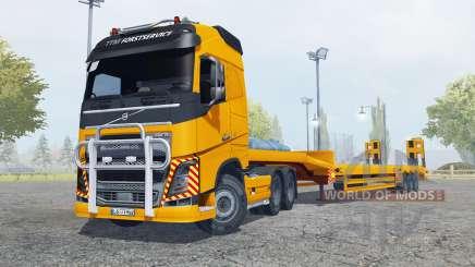 Volvo FH16 600 Globetrotter special transport pour Farming Simulator 2013