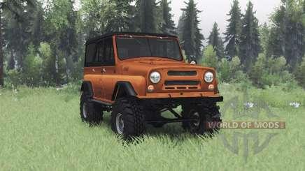 UAZ 469 orange v1.2 für Spin Tires