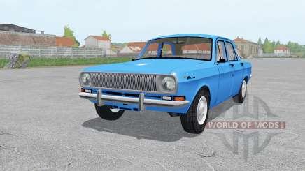 GAZ 24 Volga modérément-bleu pour Farming Simulator 2017